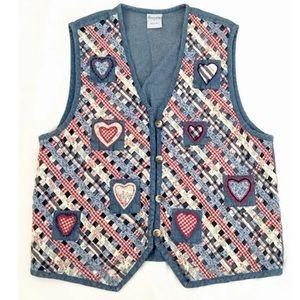 Cascade Blues 80/90s Vintage Mom Costume Vest Sz L